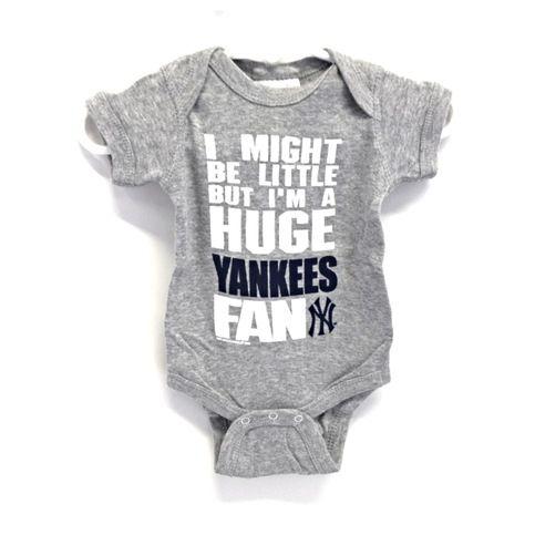 3cbe0963 new york yankees nursery   Soft As A Grape New York Yankees Grey Baby Rib  Creeper from Stan's .