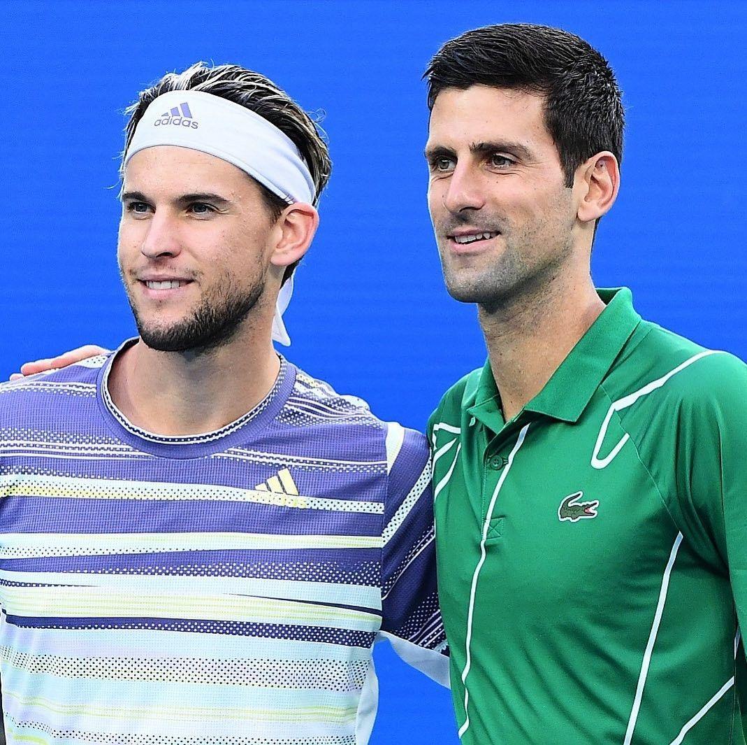 Dominic Thiem Novak Djokovic Australian Open 2020 In 2020 Mens Tops Celebrities Male Mens Polo Shirts