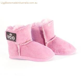 aa12aefbb Velcro Baby Booties - Candy Pink   Ugg Boots Made in Australia ...