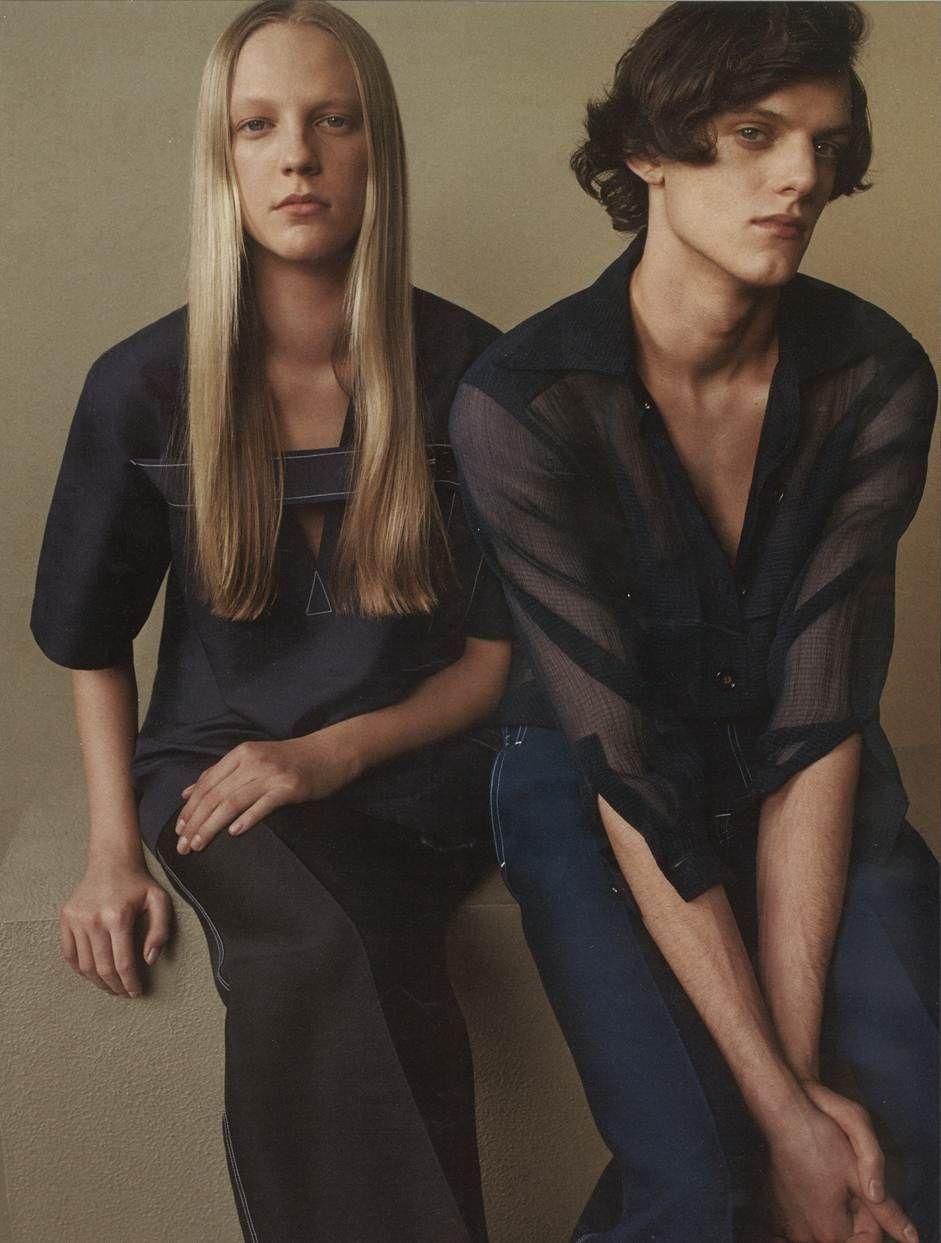 Wilhelmina model emilie evander for interview magazine april