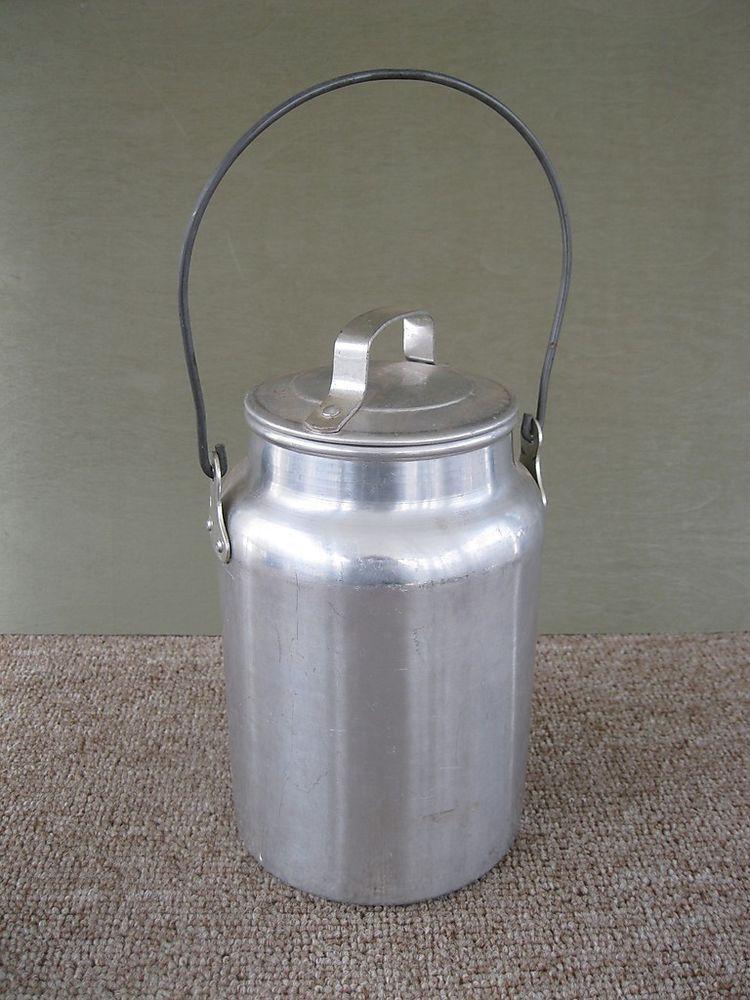 Details About Vintage 2 Gallon Aluminum Dairy Cream Pail