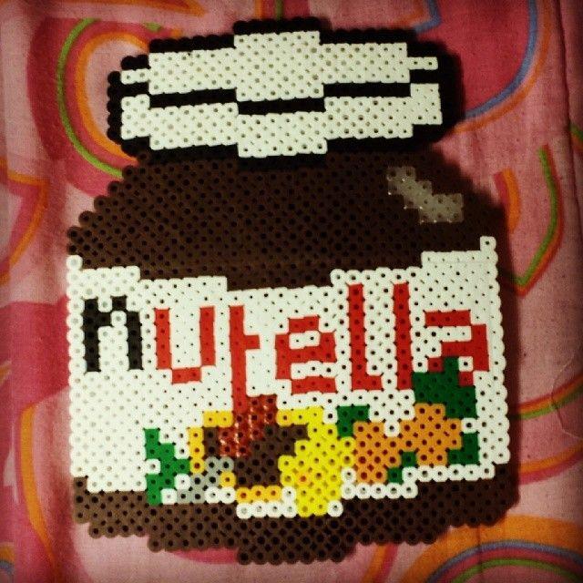Nutella Jar Perler Beads By Nikachuray Avec Images Perles A