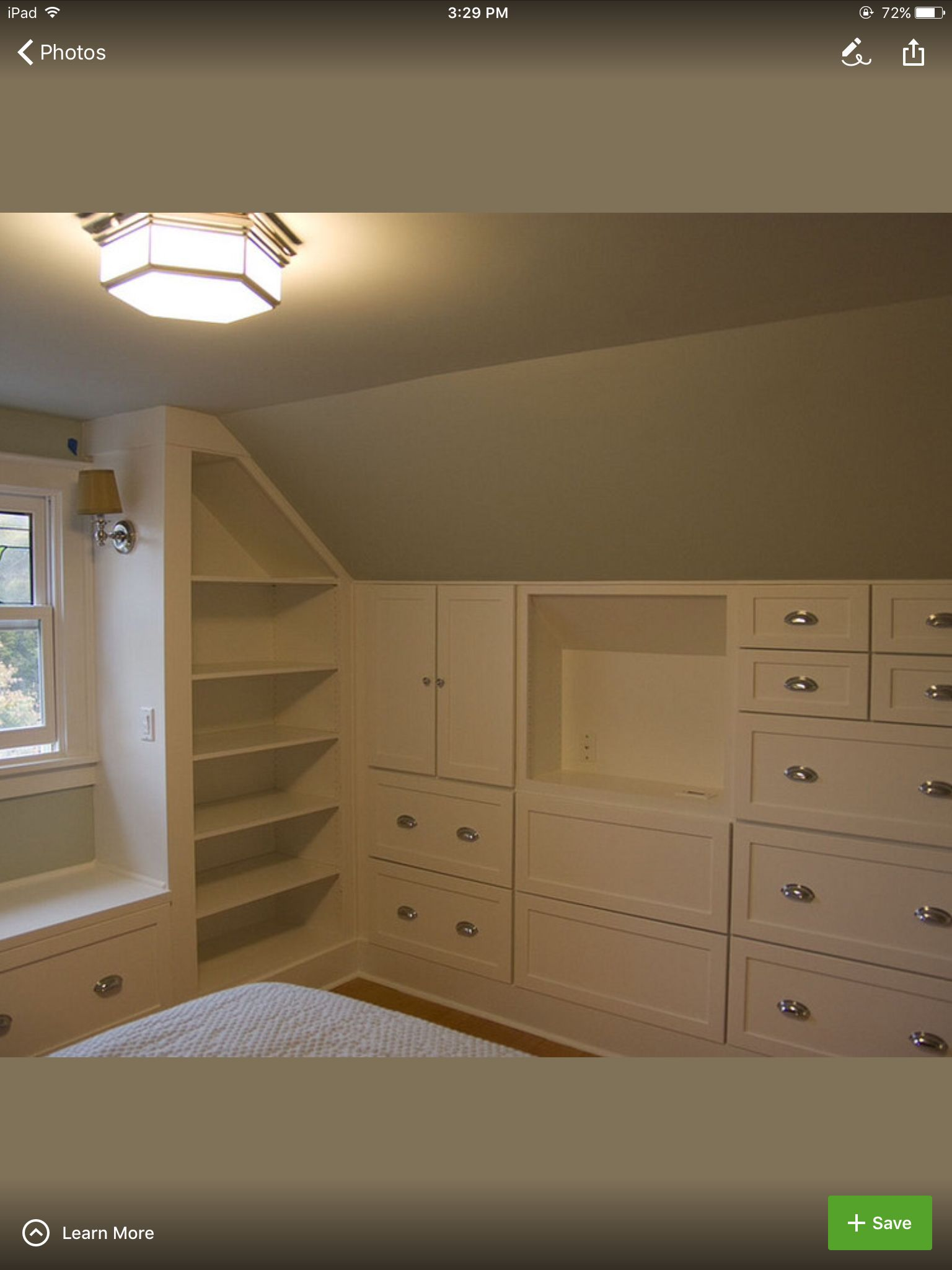 Built Ins 1 2 Story Attic Remodel Attic Design Closet Bedroom