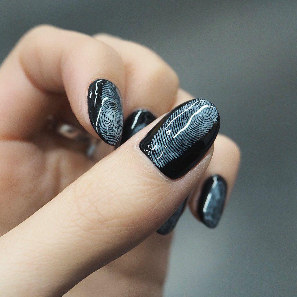 自分の指紋をまじまじと見ました #キテレツネイル @inthink_me