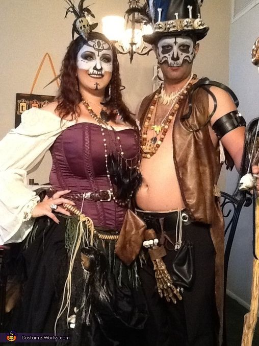 Baron Samedi and Madame Brigitte - Halloween Costume Contest at - halloween horror costume ideas