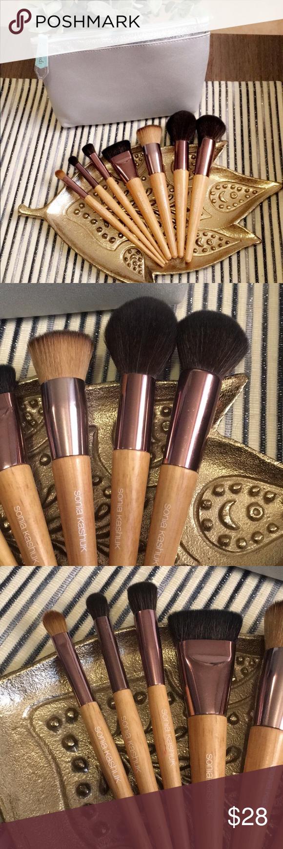 Sonia Kashuk Wooden Makeup Brushes (face + eyes) Best