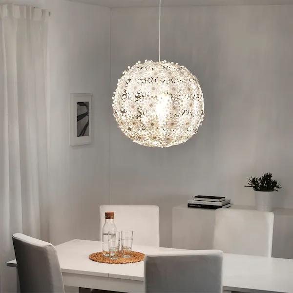 Grimsas Pendant Lamp White Ikea In 2020 White Pendant Lamp Pendant Lamp Pendant Lamp Living Room