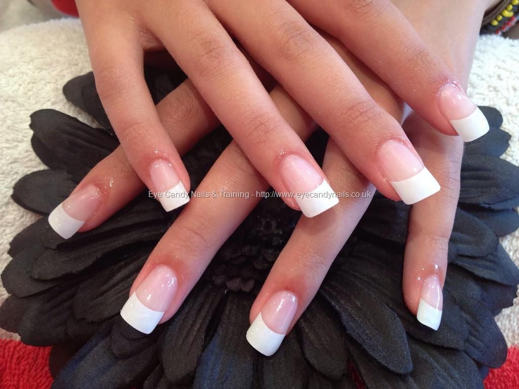 Full Set Of Acrylic With White Tips White Tip Nails White Tip Acrylic Nails French Tip Acrylic Nails