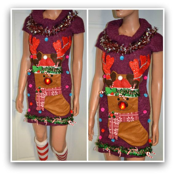 SALE 3D OOAK Tacky Ugly Christmas Sweater by NYinVogueVintage