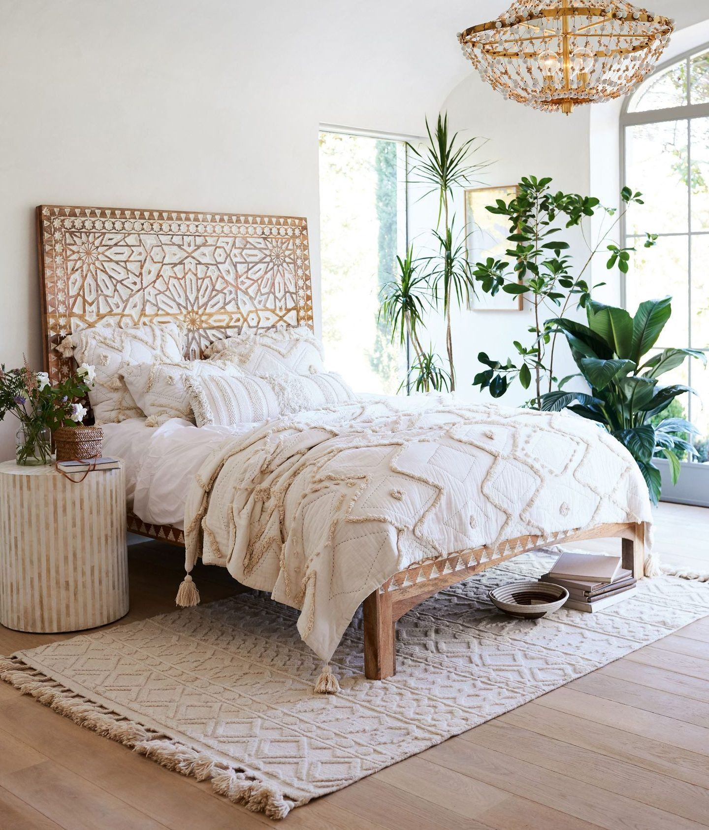 boho chic bedroom designs to enter diversity in the home