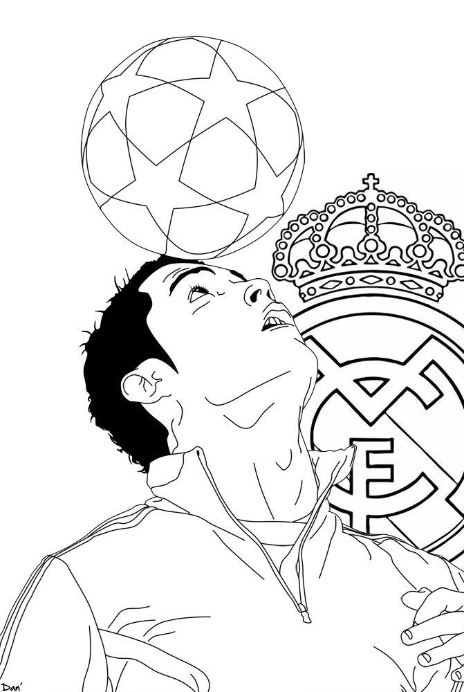 cristiano ronaldo juggling ball coloring page in 2020