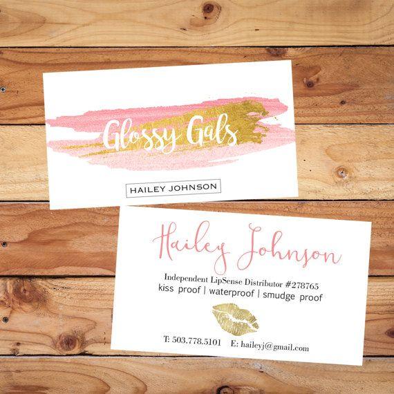 LipSense Business Cards-CUSTOM SentenceBusiness Card Makeup - lipsense business card