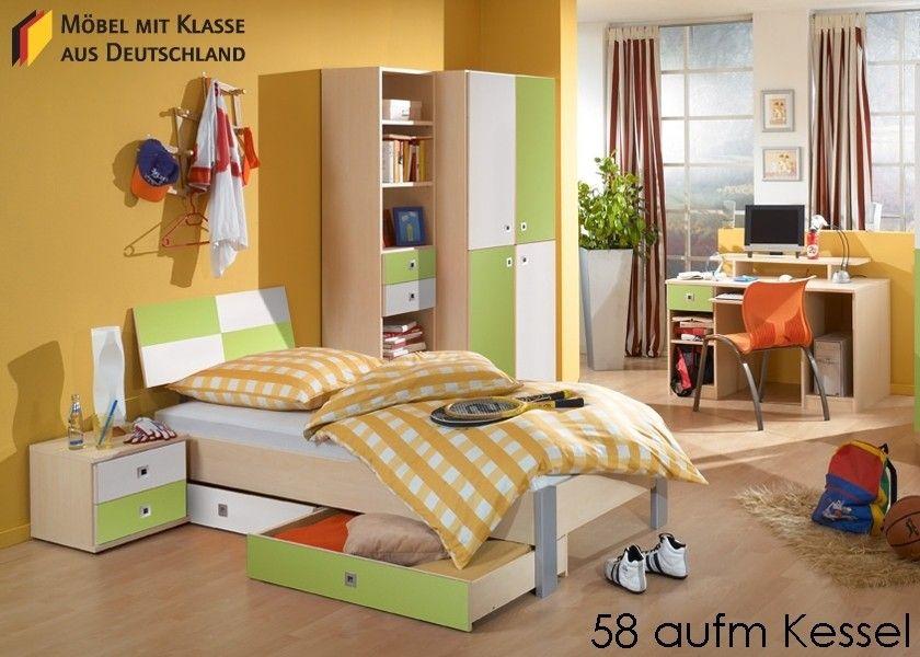 jugendzimmer komplett holz ahorn weiss grün 5046. buy now at https,