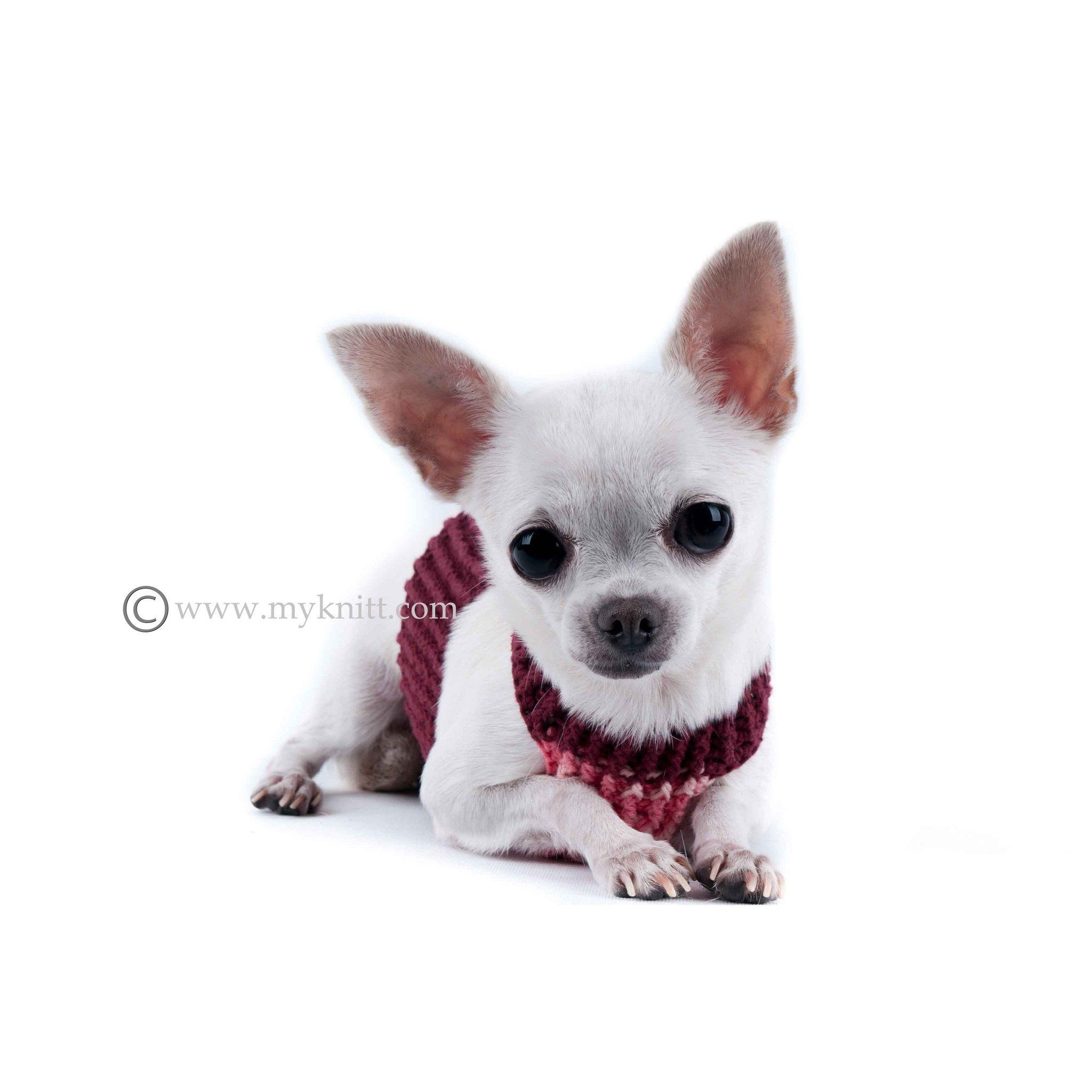 Soft Comfortable Pink Burgundy Hand Crochet Dog Harness DH7 | Dog