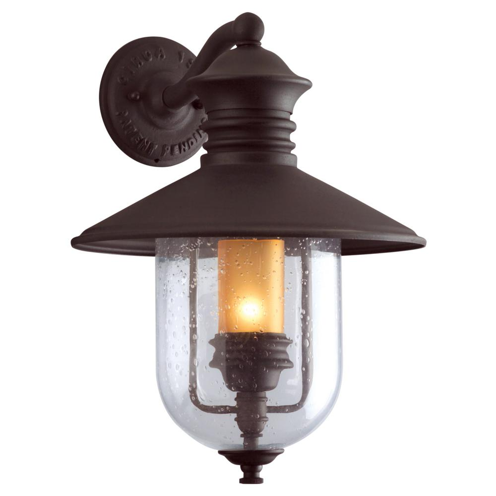 Old Town Natural Bronze Outdoor Wall Mount Lantern Exterior Wall