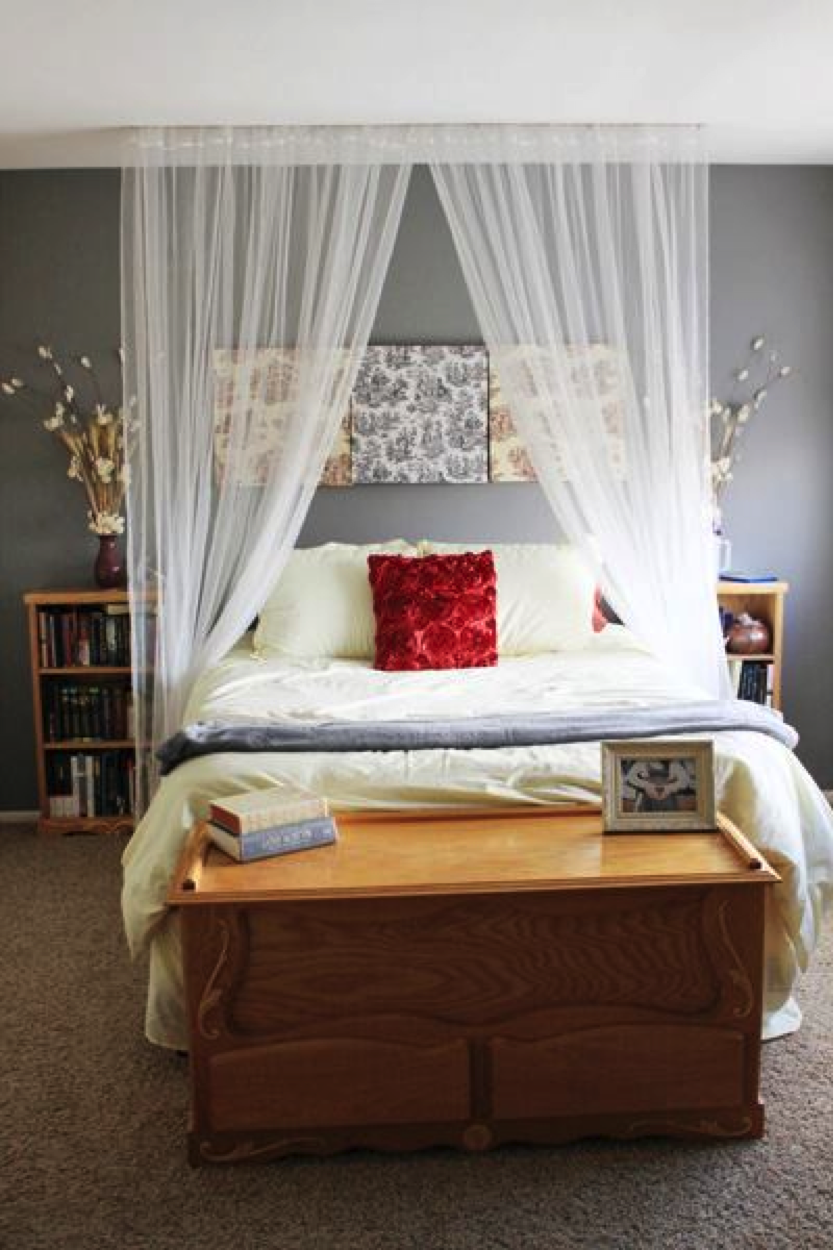 Canopy curtain over bed home bedroom home curtain over bed - Canopy bed curtain ideas ...
