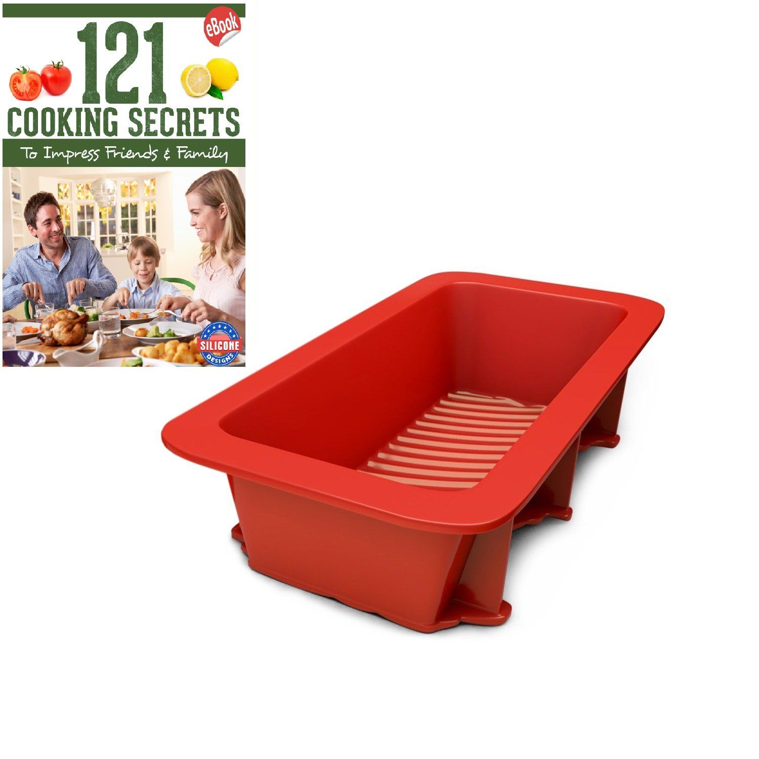 Silicone bread and loaf pan set of 1 red nonstick commercial silicone bread and loaf pan set of 1 red nonstick commercial grade plus bread fandeluxe Document