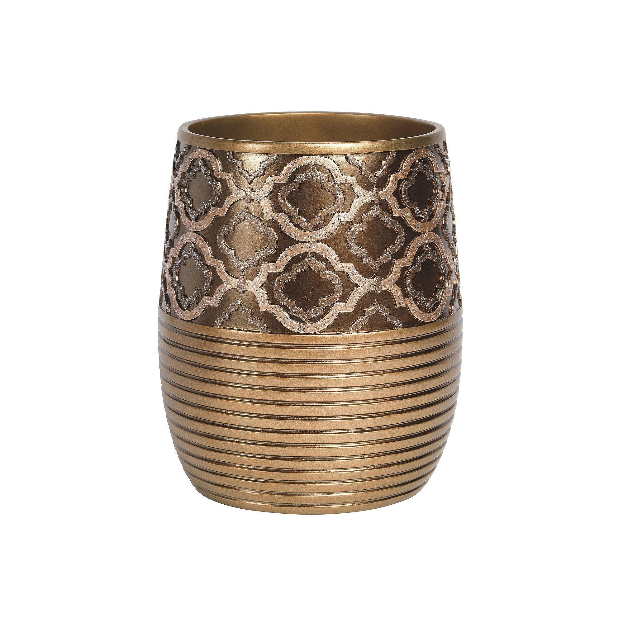Popular Bath Spindle Waste Basket Products Gold Bathroom