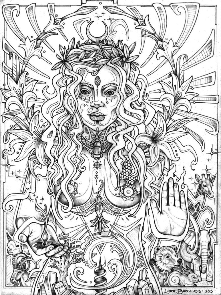 Laurasiatheria By Lauraborealisis Deviantart Com On Deviantart Pagan Coloring Pages