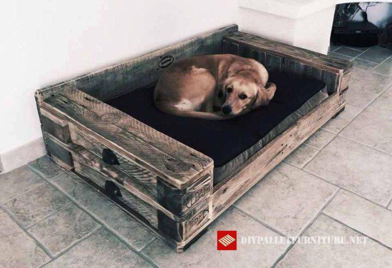 Einige Hundebetten Mit Paletten Gemacht Hunde Pinterest Hunde