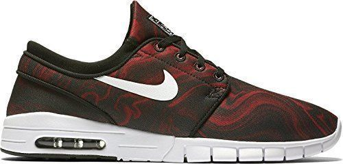 Nike SB Stefan Janoski Max PRM Skate Shoes Mens 11.5 Black Red White 807497  016 #
