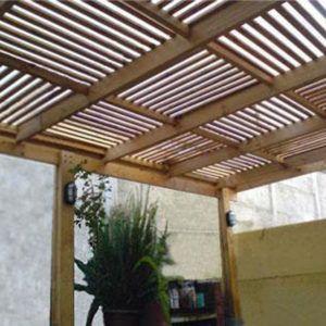 P rgolas de madera acero aluminio vidrio y m s for Cocina separada por un techo de vidrio