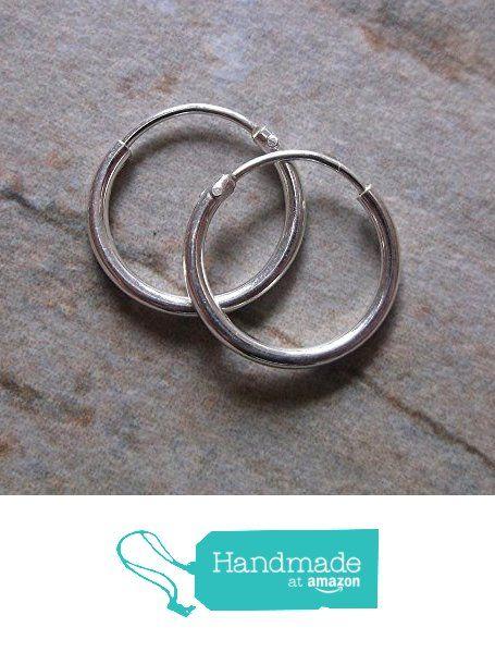 Minimal Sterling Silver Small 12mm Hoop Earrings 1 25mm Thick Co Uk Handmade