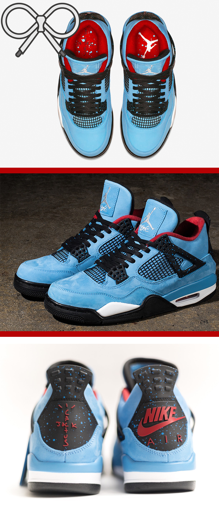 low priced 536c6 a30ce From the Travis Scott x Air Jordan collaboration. Blue and red. Cactus jack.