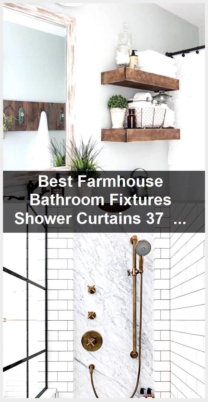 Photo of Best farmhouse bathroom fixtures shower curtains 37 ideas, #bathroom #curtains …