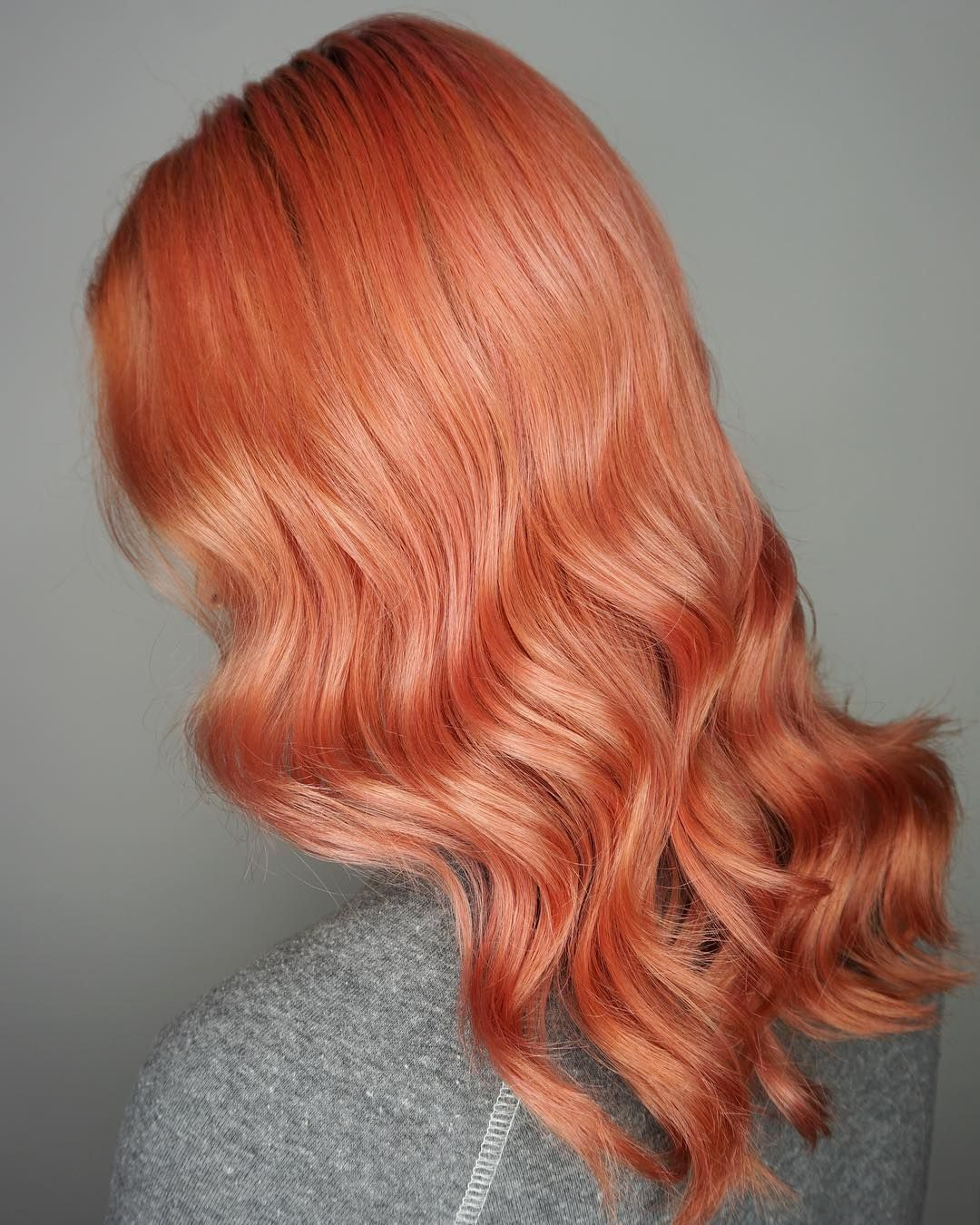 Goodbye Orange Hello Pink This Was A Pastel Pink Overlay On Her Faded Orange Toner Obsessed More Photos To Com Rose Gold Hair Dye Rose Gold Hair Dyed Hair