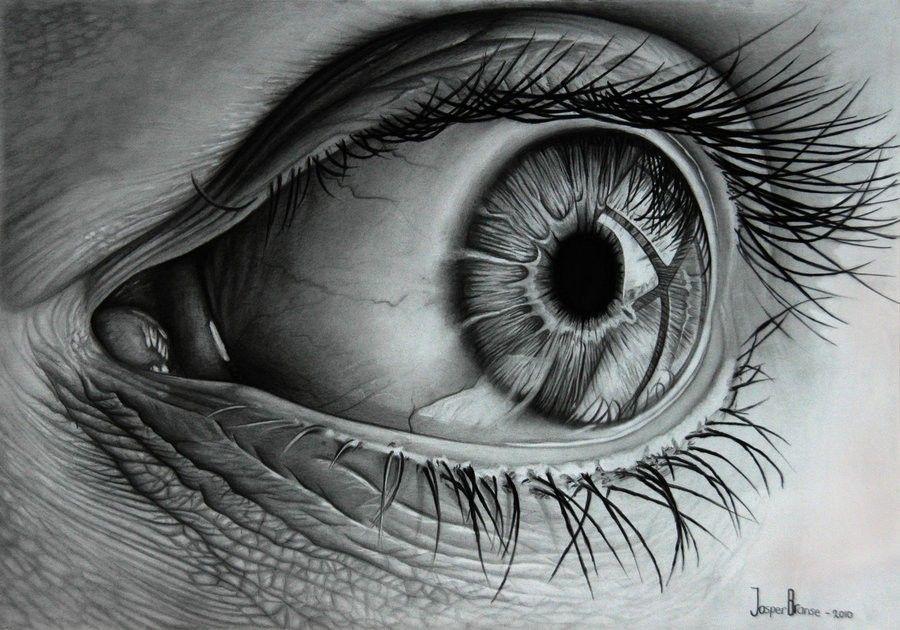 Ojo Realista A Lapiz Carboncillo Precioso Ojos A Lapiz Ojo Realista Dibujos De Ojos