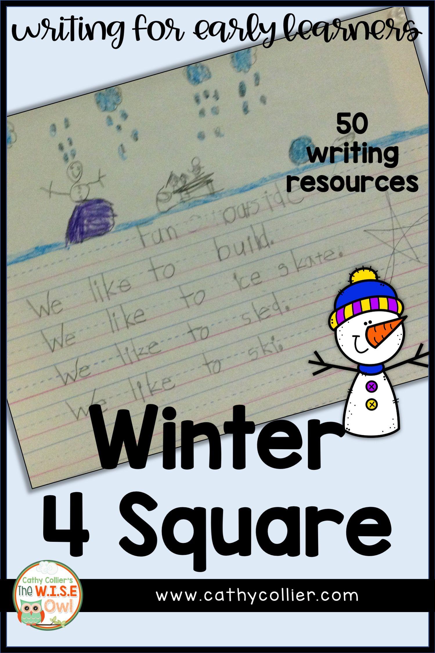 Kindergarten Winter 4 Square Writing Winter Writing Independent Writing Winter Packet [ 2249 x 1499 Pixel ]