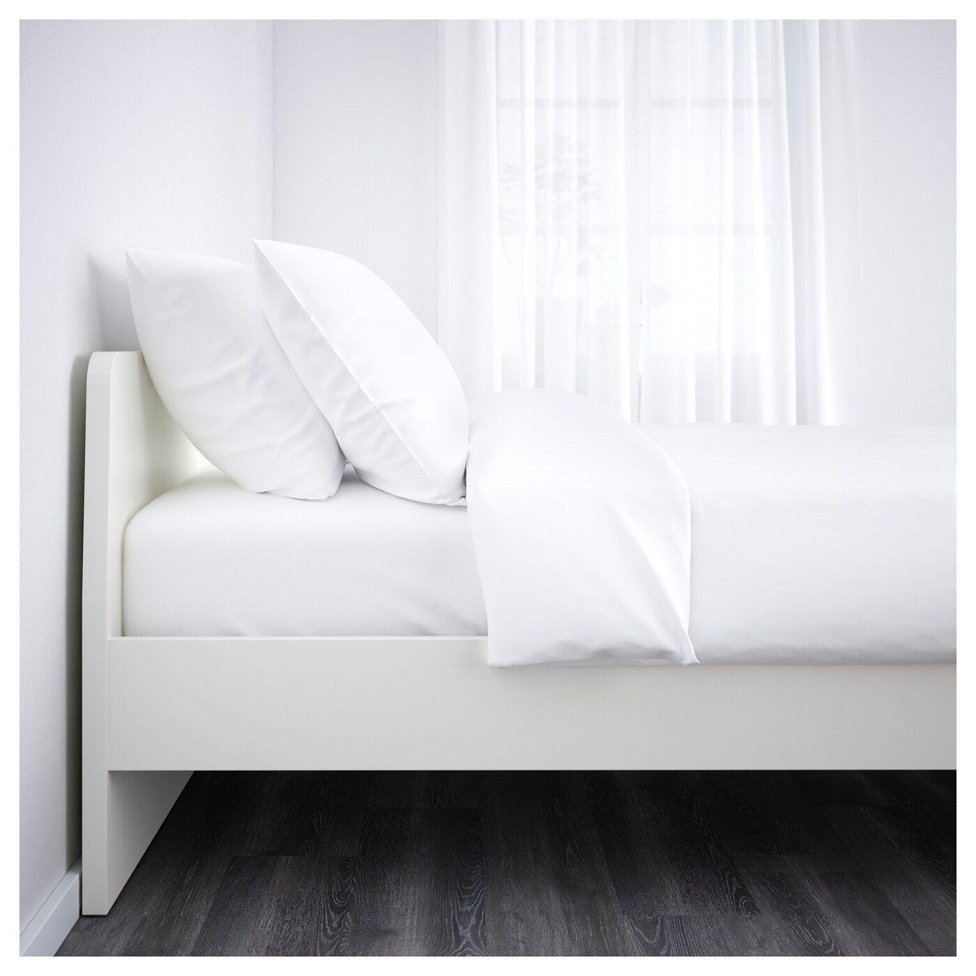 Askvoll Bettgestell Weiss Leirsund Bettgestell Ikea Hemnes Bett