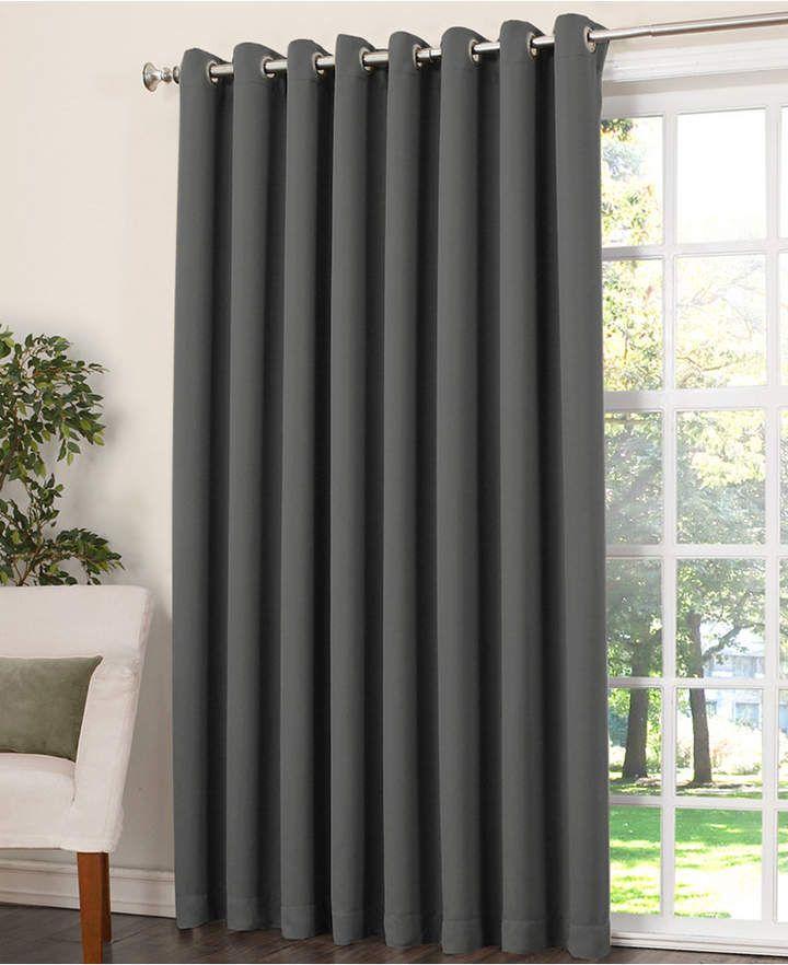 Sun Zero Grant Room Darkening Grommet 100 X 84 Patio Panel Room Darkening Curtains Custom Drapes