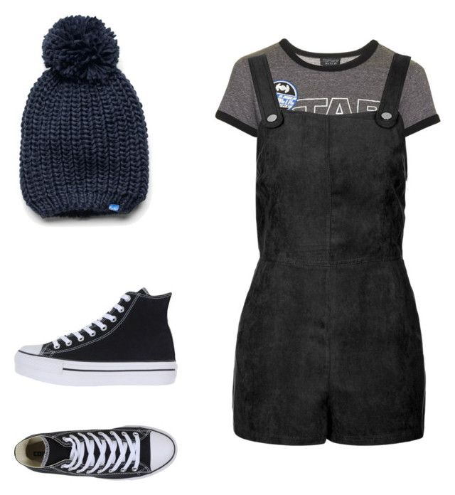 """FINE!!"" by stevensonma ❤ liked on Polyvore featuring Topshop, Converse and Keds"