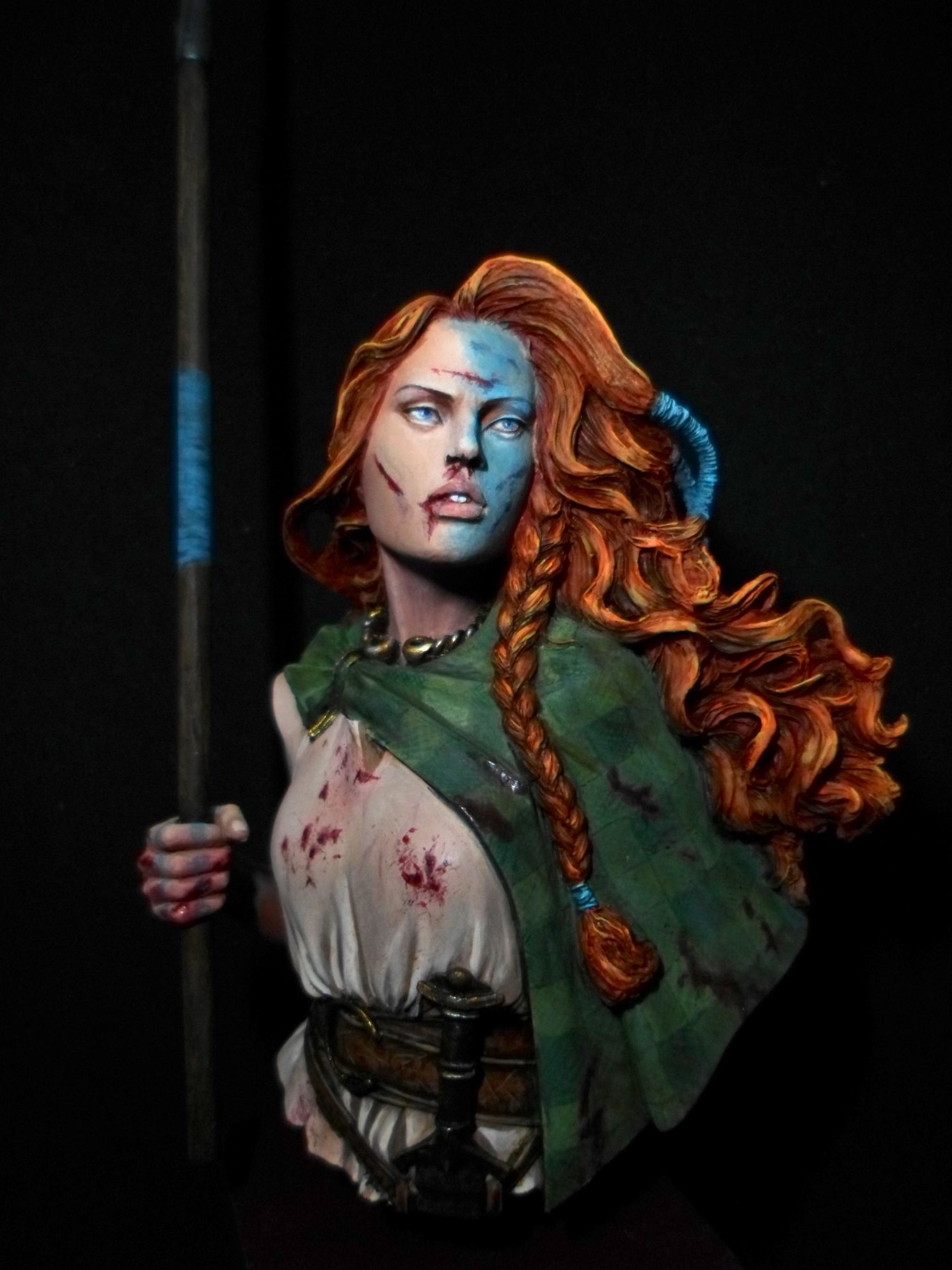 Boudicca Under Attack Creative Face Photography Warrior Paint Celtic Warriors