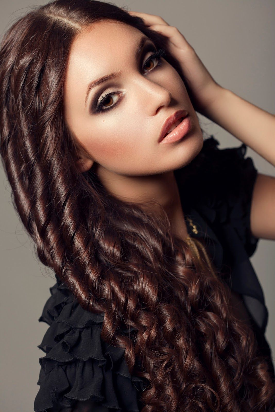 Awesome 1000 Images About Tight Curls Loose Big Curls Messy Curly Hairstyles For Women Draintrainus