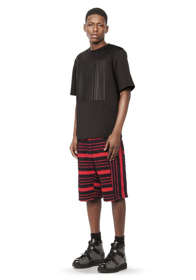 ALEXANDER WANG DEBOSSED BARCODE SHORT SLEEVE TEE