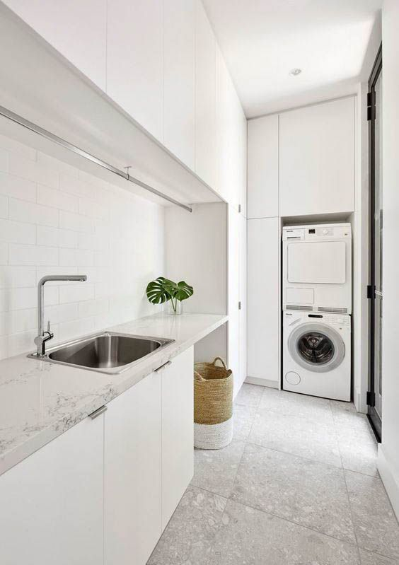 15 Dreamy Minimal Interiors From Luxe With Love Modern Laundry Rooms Laundry Room Design Laundry Design