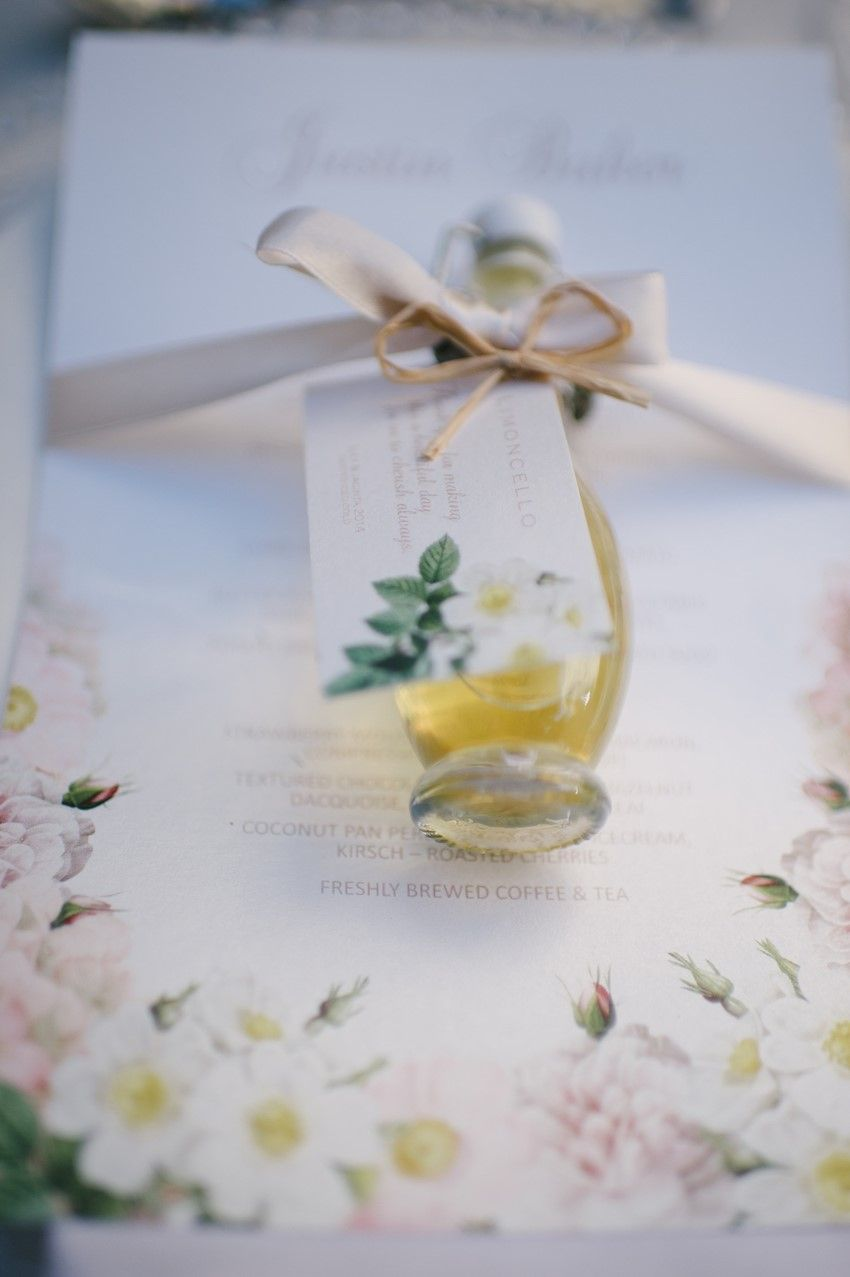 Beautifully Bottled Limoncello Wedding Favours Photography By