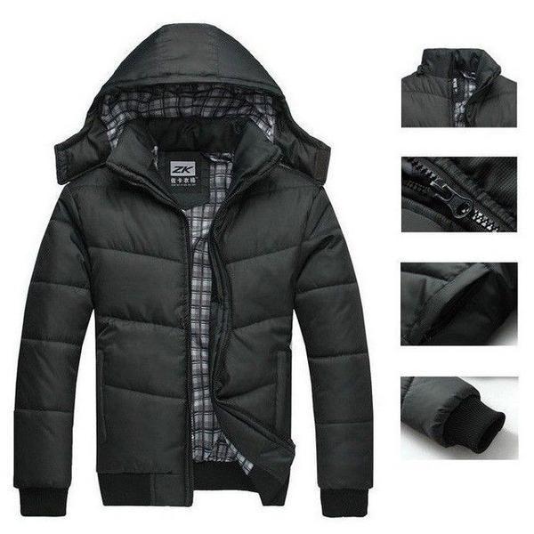 480d7592b7040d 2019 Men s Winter Hoodies Quilted Jacket Warm Fashion Male Puffer Overcoat  Parka Outwear Winter Cotton Padded Hooded Coat Men