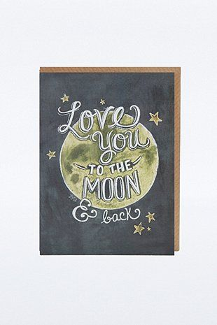 Carte Love You to the Moon and Back