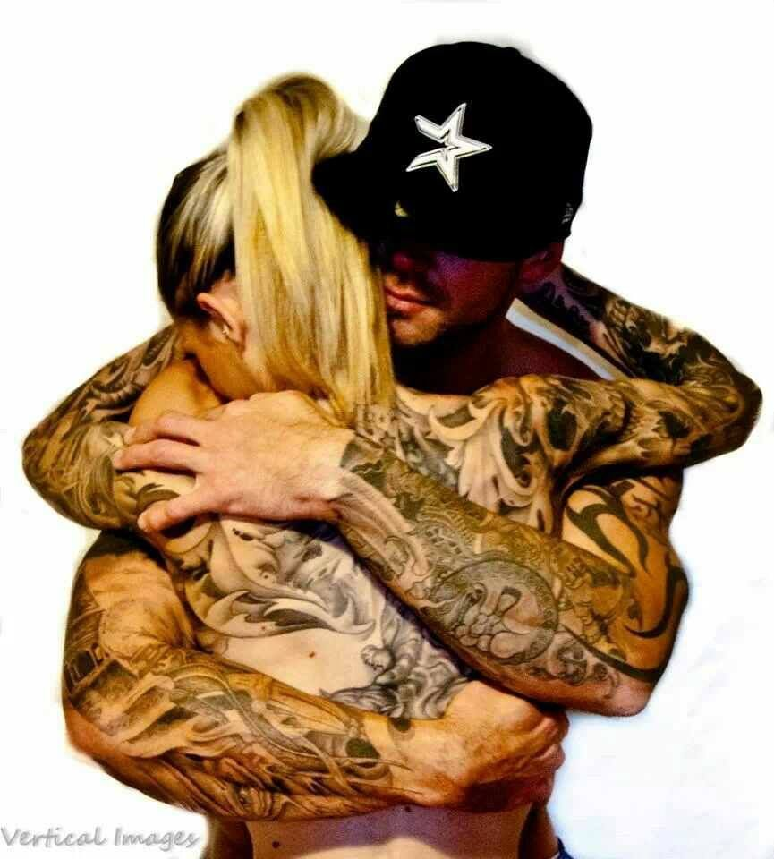 Love couples with tattoos (: so cute | Tattooed couples ...