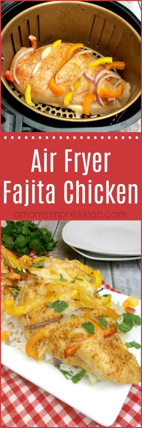 Air Fryer Fajita Chicken (Hasselback Style) Recipe Air