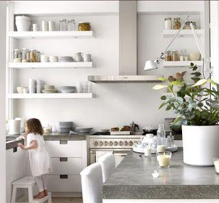Natural Modern Interiors Open Kitchen Shelves Ideas  Home Alluring Kitchen Shelves Designs Design Ideas