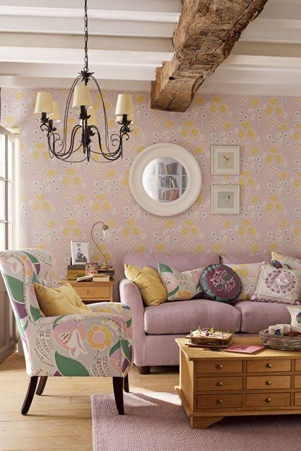 Quirky Floral Living rooms Living room ideas and Room ideas
