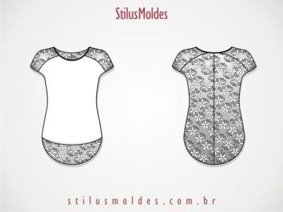 ac6e36f9ef moldes de camisa feminina de renda com manga japonesa