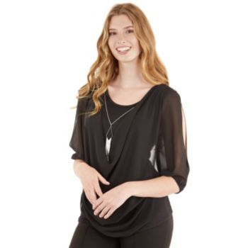 a9e56f1770ce1e Shoulder · IZ Byer California Juniors  Cold-Shoulder Top ...