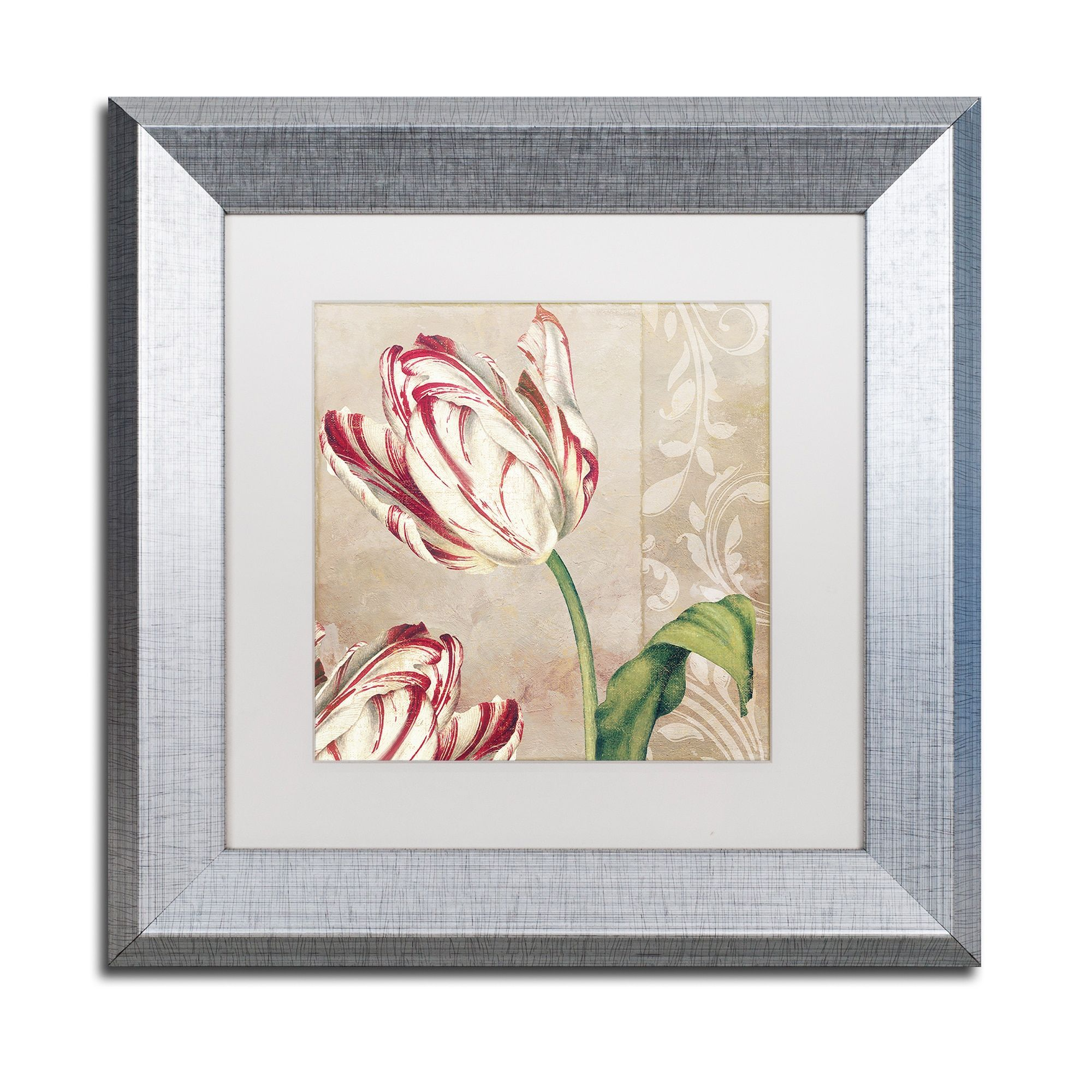 Color bakery upeppermint tulips iu matted framed art products