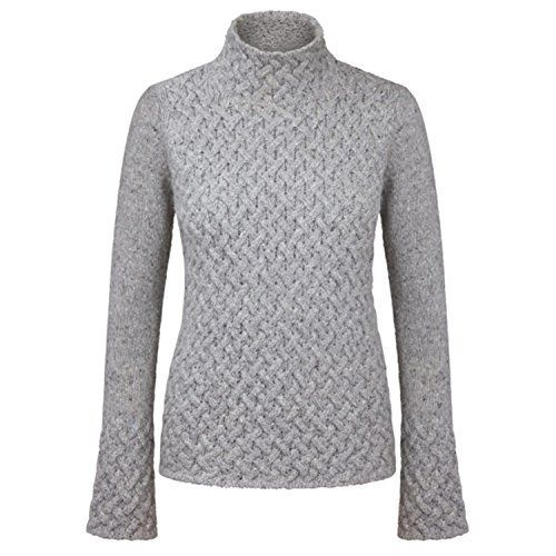Product review for Ladies 100% Irish Merino Cashmere Wool Sweater with Trellis Stitching.  This beautifully handcrafted Ladies 100% Irish Merino Cashmere Wool Sweater with Trellis Stitching by Irelands Eye Knitwear is a must have for any wardrobe. This ladies Irish merino cashmere wool sweater is a comfortable and warm piece for those cold winter days. This sweater has beautiful...